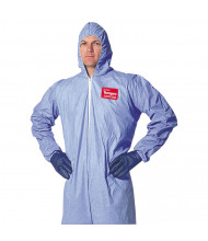 DuPont Tempro Elastic-Cuff Hooded Coveralls, Blue, 3X-Large, 25/Pack