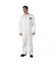 DuPont Tyvek Coveralls, Open Wrist/Ankle, HD Polyethylene, White, 2X-Large, 25/Pack