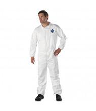 DuPont Tyvek Elastic-Cuff Coveralls, HD Polyethylene, White, Large, 25/Pack