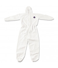 DuPont Tyvek Elastic-Cuff Hooded Coveralls, White, 4X-Large, 25/Pack