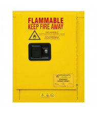 "Durham Steel 1004M-50 19"" W x 18"" D x 23"" H One Door Flammable Safety Cabinet, 4 Gallon"