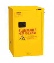 """Durham Steel 1004S-50 19"""" W x 18"""" D x 23"""" H One Self Close Door Flammable Safety Cabinet, 4 Gallon"""