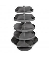 Durham Steel Rotabin Multi-Sized 5-Shelf Revolving Bin Shelving Unit
