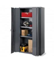 "Durham Steel 36"" x 24"" x 78"" 3-Shelf Extra Heavy-Duty Bi-Folding Door Cabinet"