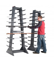 "Durham Steel 30"" W x 30"" D x 85"" H 9-Level Horizontal Storage Rack (Shown with separate second rack)"