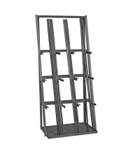 "Durham Steel 36"" W x 24"" D x 84"" H 9-Level Vertical Bar Storage Rack"