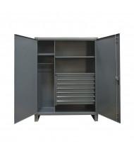 Durham Steel 2-Shelf 12 Gauge Wardrobe Cabinets with 7-Drawers