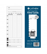 Lathem In/Out Single Sided Time Cards for 700E, Pack of 200