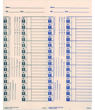 Lathem Bi-weekly time card for 1600E/1000E/1500E/5000EP/900E 2 sided