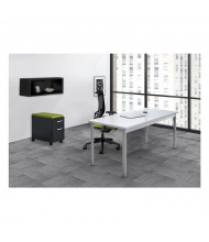 Mayline e5 Series E5K1 Office Desk Set (Shown with Black Storage Components)