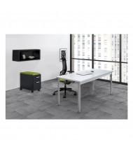 Mayline e5 Series E5K1 Office Desk Set (Shown with Black Storage Components)
