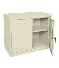 "Sandusky 30"" H Elite Desk Height Storage Cabinets, Assembled (3-Point Lock Handle, Shown in Putty)"