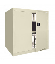 "Sandusky 42"" H Elite Counter Height Storage Cabinets, Assembled (Shown in Putty)"