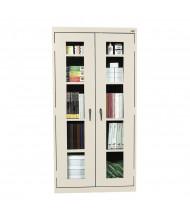 Sandusky Elite See-Thru Storage Cabinets, Clear View Door, Assembled (Shown in Putty)