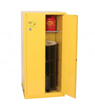 Eagle 1926 Fire Resistant Manual Drum Storage Cabinet, 55 Gal Drum (Example of Use)