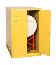 Eagle 1928 Manual Two Door 1-Horizontal Drum Safety Cabinet, 55 Gallons, Yellow (Example of Use)