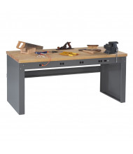 Tennsco Hardwood Electronic Workbenches with Panel Legs (Model without Electronic Riser Shown)