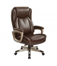 Office Star Work Smart Bonded Leather High-Back Executive Office Chair, Espresso Brown