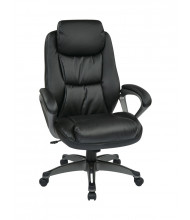 Office Star Coil Spring Eco-Leather High-Back Executive Office Chair (Model ECH89187-EC3)