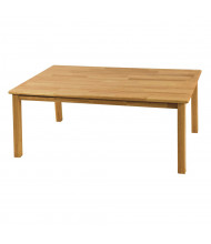 "ECR4Kids 48"" W x 30"" D Hardwood Elementary School Table"