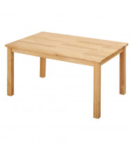 "ECR4Kids 48"" W x 24"" D Hardwood Elementary School Table"