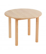 "ECR4Kids 30"" Round Hardwood Elementary School Table"