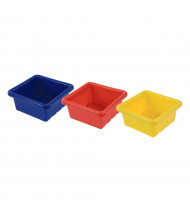 ECR4Kids Square Plastic Classroom Storage Tray, Pack of 4