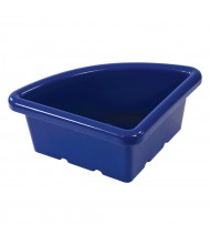 ECR4Kids Quarter Circle Plastic Classroom Storage Tray, Blue, Pack of 4