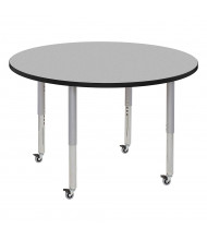 """ECR4Kids Contour 48"""" D Round Adjustable Mobile Activity Table (Shown in Grey)"""