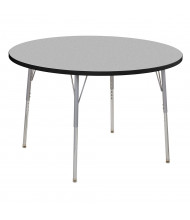 "ECR4Kids Contour 48"" D Round Adjustable Activity Table (Shown in Grey)"
