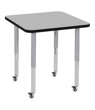 "ECR4Kids Contour 30"" D Square Adjustable Mobile Activity Table (Shown in Grey)"