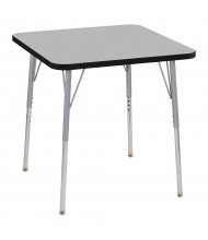 "ECR4Kids Contour 30"" D Square Adjustable Activity Table (Shown in Grey)"