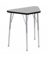 "ECR4Kids Contour 30"" W x 18"" D Trapezoid Adjustable Activity Table (Shown in Grey)"