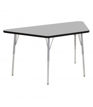 """ECR4Kids Contour 60"""" W x 30"""" D Trapezoid Adjustable Activity Table (Shown in Grey)"""
