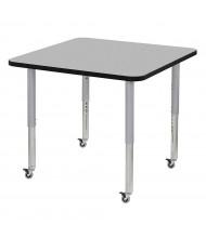 "ECR4Kids Contour 36"" D Square Adjustable Mobile Activity Table (Shown in Grey)"