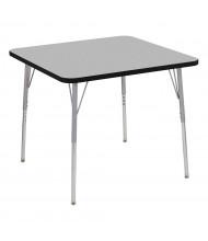 "ECR4Kids Contour 36"" D Square Adjustable Activity Table (Shown in Grey)"