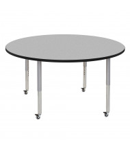 "ECR4Kids Contour 60"" D Round Adjustable Mobile Activity Table (Shown in Grey)"