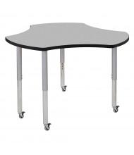 "ECR4Kids Contour 48"" D Cog-Shaped Adjustable Mobile Activity Table (Shown in Grey)"