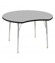 "ECR4Kids Contour 48"" D Crescent-Shaped Adjustable Activity Table (Shown in Grey)"