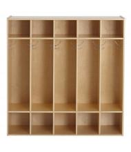 ECR4Kids Birch Streamline 5-Section Coat Locker