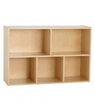 "ECR4Kids 30"" H Birch Streamline 5-Section Classroom Storage"