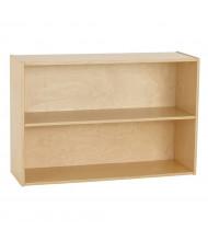 """ECR4Kids 24"""" H Birch Streamline 2-Shelf Classroom Storage"""