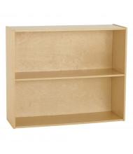 """ECR4Kids 30"""" H Birch Streamline 2-Shelf Classroom Storage"""