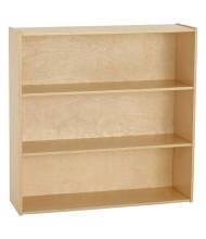 """ECR4Kids 36"""" H Birch Streamline 3-Shelf Classroom Storage"""