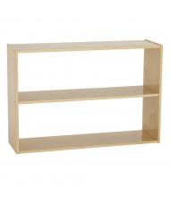 "ECR4Kids 24"" H Birch Streamline 2-Shelf Classroom Storage Shelving"