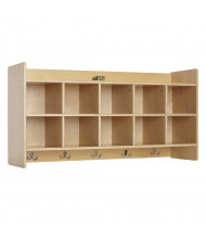 ECR4Kids Birch 10-Section Wall Mount Cubby Coat Locker