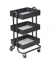 "ECR4Kids 31.5"" H 3-Tier Metal Utility Classroom Cart (Shown in Black)"