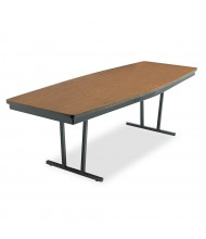 "Barricks 96"" W x 36"" D Boat-Shaped Economy Conference Folding Table"