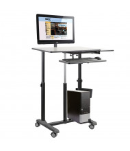 Oklahoma Sound EduTouch Pro Sit-Stand Presentation AV Cart