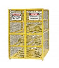 "Durham Steel EGCC12-50 50"" W x 42"" D x 72"" H Horizontal Gas Cylinder Cabinet, Holds 12 Cylinders"